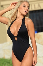 Sunny Cove - Black One Piece Swimsuit
