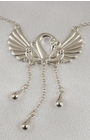 Swan Waist Chain with Dangling Pendants in Silver