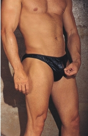 The Taming School - Leather Zipper Briefs