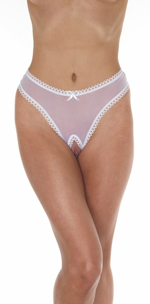 The Temptress - Mesh Open Crotch Briefs Panties