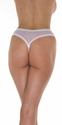 The Temptress - Mesh Open Crotch Thong Panty