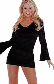 Velvet Long Sleeve Mini Dress
