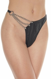 Verbena - Chain and Leather G-String Panty