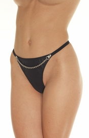 Whippingham House  - Leather G-String with Chain