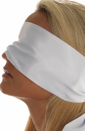 White Satin Feel Blindfold