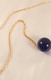 Women's Gold Waist Chain with Cat and Insertable Blue Orb