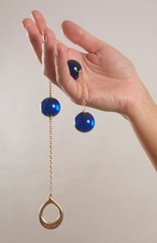 Women's Insertable Triple Geisha Balls with Gold Loop