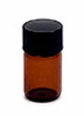 Amber Glass Bottle - 2ml w/Lid