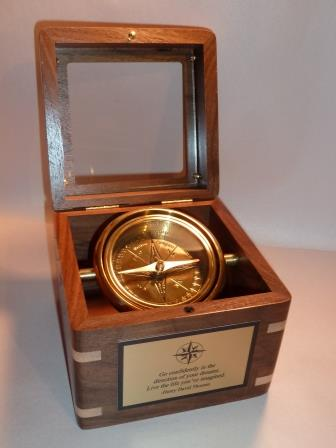 Executive Desk Compass Custom Made Wooden Box