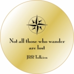 Solid Brass Engraved Pocket Compass: JRR Tolkien Quote