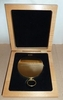 Solid Brass Pocket Compass WITH Cherry Presentation Box and Custom Engraving Included