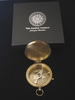 Engrave a Solid Brass Medium Size Pocket Compass with optional Rosewood Presentation Box