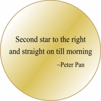 Solid Brass Pocket  Compass Ready Engraved : Peter Pan Quote