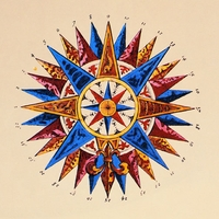 The 32 Points of the Compass Rose