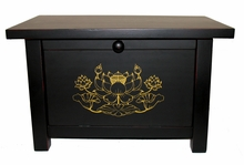 Altar Cabinet - Golden Lotus Design - Wood