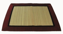 Altar Mat or Place Mat - Silk Trim Woven Tatami - Reversible: Burgundy/Purple only one left in stock
