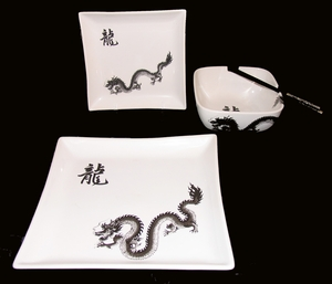 Dragon Stoneware - Set Of Four