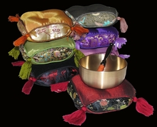 Gong/Singing Bowl Cushions - Square Silk Brocades