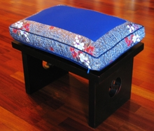 Meditation Bench & Cushion Set - Blue Indochine