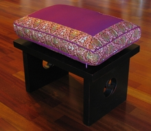 Meditation Bench & Cushion Set - Magenta Indochine
