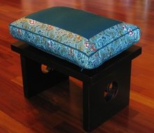 Meditation Bench & Cushion Set - Teal/Turquoise Indochine