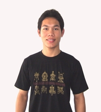 Tee shirts with Eight Auspicious Symbols