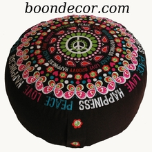 Zafu Combination Fill Meditation Cushion � Limited Edition �Retro Collection�