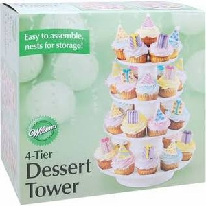 4 TIER DESSERT TOWER