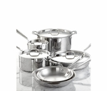 All-Clad Tri-Ply Bonded Dishwasher Safe 10-Piece Cookware Set