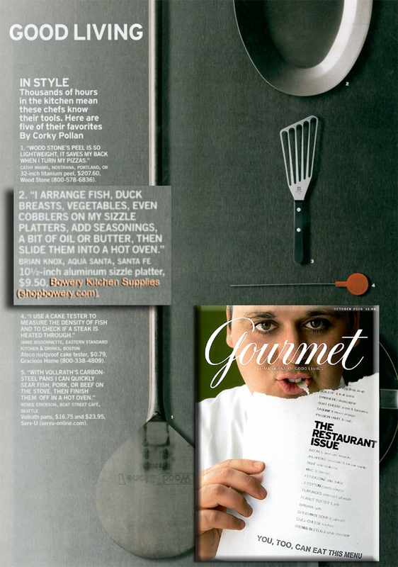 As Seen in GOURMET Magazine
