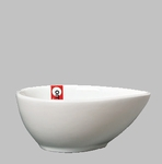 "BOWL 4X3X1.5"" TEARDROP WHITE / MIN 6 PCS TO SHIP"