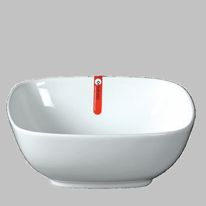 "BOWL SQ 10"" WHITE  / MIN 2 PCS TO SHIP"