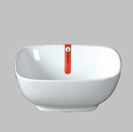 "BOWL SQ 6.5"" WHITE  / MIN 6 PCS TO SHIP"