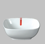 "BOWL SQ 8.25"" WHITE  / MIN 3 PCS TO SHIP"