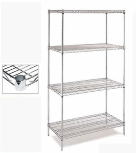 Chrome Wire Shelving - C14x24