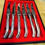 Laguiole Steak Knives Micro Serrated by Beauvoir Large Model 9""