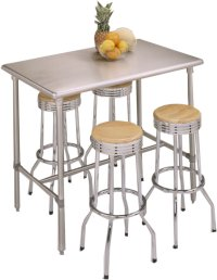 Custom_Bilt Open Base Stainless Steel Top Work Tables