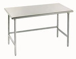 Open Base Stainless Steel Work Tables