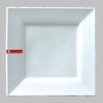 "PLATE SQ. 10"" WHITE / MIN 4 PCS TO SHIP"