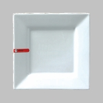 "PLATE SQ 8.5"" WHITE / MIN 3 PCS TO SHIP"