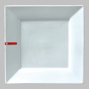 "PLATE SQ 12"" WHITE / MIN 3 PCS TO SHIP"