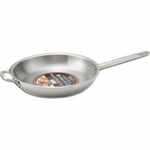 "S/S Fry Pan 14"", w/ Helper Handle, 14.2"" x 2.6"""