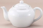 TEAPOT W/INFUSER 16 OZ WHITE