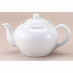 TEAPOT W/INFUSER 32 OZ WHITE