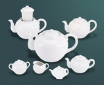 White Tea Pot w/Infuser 46oz.