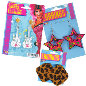 80s Costume Earrings