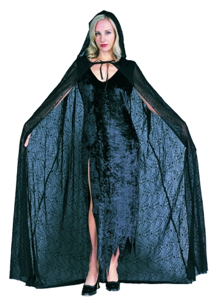 Adult 56 Quot Hooded Lace Spider Web Cape Adult Vampire