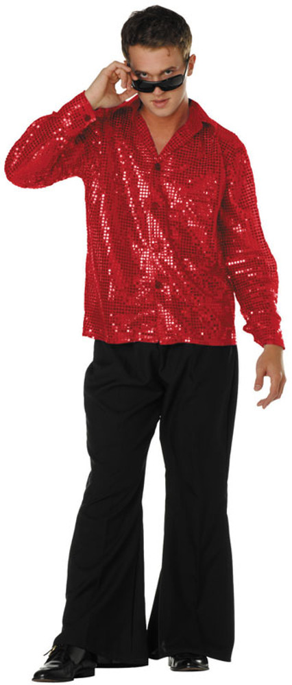 Adult 70's Sequin Disco Inferno Shirt
