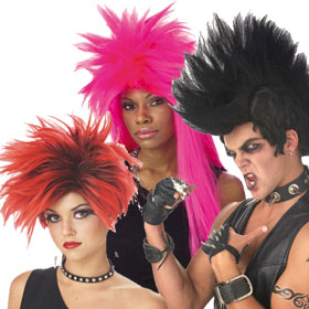 Adult 80s Punk Rock Wigs