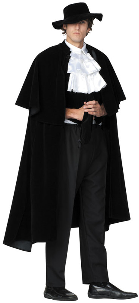 Adult Black Highwayman Costume